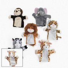Amazon.com: 6 Plush Velour Animal Hand Puppets: Toys & Games