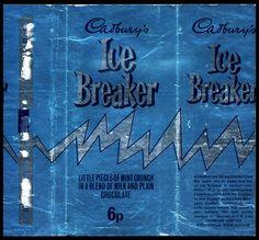 UK - Cadbury's Ice Breaker - foil candy bar wrapper - 1970's by JasonLiebig, via Flickr