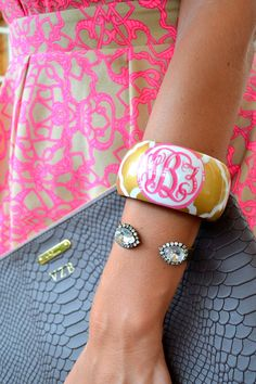 Stacy Brown Designs hand painted bangle