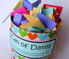 relationship, ideas for dates, gift ideas, date jar, thing