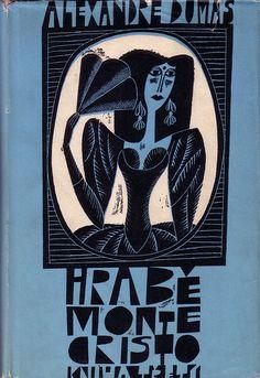 czechoslovak dust jacket (1963)  cover and binding by Adolf Born  (alexandre dumas)
