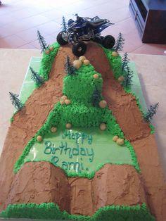 Dirt+Bike+Track+Cake