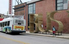 Baltimore Gets a Giant Bus Stop Shaped Like the Word 'Bus'
