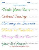 Cursive Worksheet Generator from KB Teachers kid