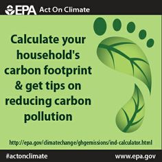 Use this link to find out your carbon footprint and #ActOnClimate.