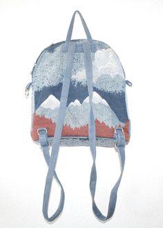 Wild Running Horses // Vintage Tapestry Mini Backpack