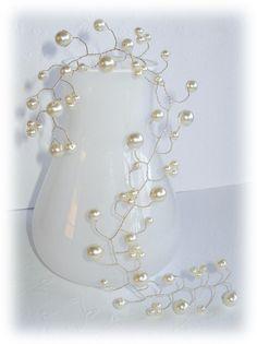 Beautiful bridal hair vine