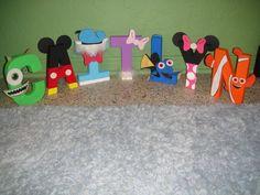 Disney Character Letter Art.