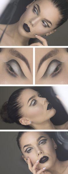 Linda Hallberg   #makeup #maquillage #maquillaje #maquillatge #beauty #eyes #ojos #yeux #ulls #lips #labios #llavis #levres #look #black