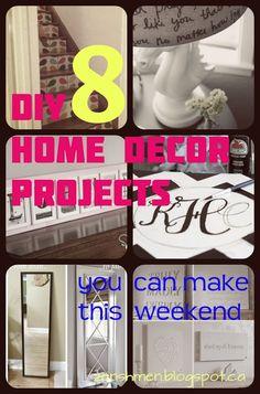ZenShmen!   A DIY Home Improvement Blog    8 #DIY #Home #Decor Projects You Can Make This Weekend