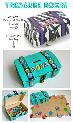 Thrive 360 Living: Treasure Chest Box and Gems