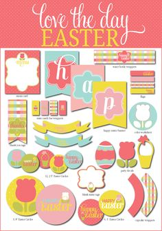 Easter printables  @Ally MacEwen check out all the party ideas from this website!