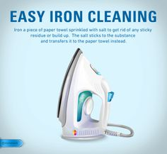 Iron buildup can damage or stain clothing.  Make sure you keep your iron clean so your clothing can stay looking crisp and sharp like it should. #ironcleaning #householdtip #cleaning #ironing