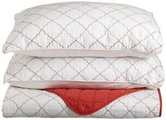 Genevieve Gorder Medallion Mineral Red Reversible Coverlet Set, Full/Queen by Springs, $83.53 http://www.amazon.com/dp/B004HZYJ24/ref=cm_sw_r_pi_dp_J77Vpb1SV3KJ4