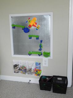 magnet board. Is that part of a shoe organizer sorting those magnets? Could use that beneath a felt board ....