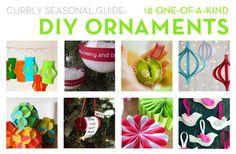 18 DIY Ornament ideas!