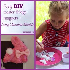 DIY Easter fridge magnets – using chocolate moulds (Louise)