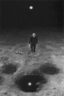 Playing with the Moon by Gilbert Garcin. S)
