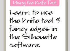 Tutorial. Knife tool, Silhouette Designer Edition