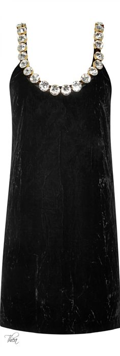 Marc Jacobs ● Resort 2015, Crushed Velvet Dress With Swarovski Crystals