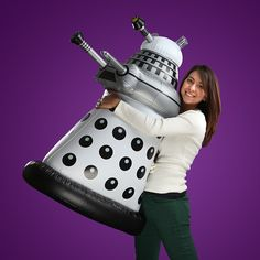 An inflatable Dalek... how cool is this? In your choice of fashion colours, too! #ThinkGeek