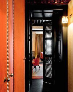 studded upholstered doors