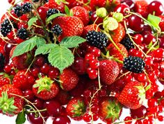 Mix of fresh summer berries | Stock Photo | Colourbox