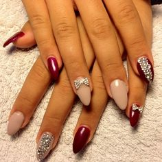 New Bling Nails. I'd do a rounded nail instead of pointed.