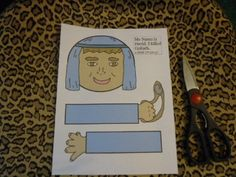 David lunch bag puppet; can print in B or color.