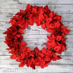 Make this beautiful DIY Christmas wreath using Dollar Tree supplies. Easy DIY Christmas crafts. #diy #christmas #christmascrafts #wreaths #dollartree