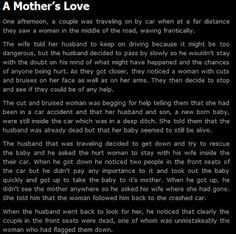 Awwwwwwwww a mothers true love - This is actually more bitter sweet than scary.