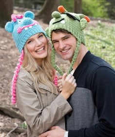 Lovable Monster Hats Free Crochet Pattern from Red Heart Yarns