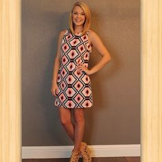Shift dress perfection. Dress it up with pumps or down with sandals. This dress is perfect for date nights, Saturday afternoons with the girls and pretty much everything else. $39 free shipping, available at 8pm cst!   (at http://www.hazelandolive.com)