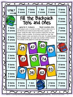 BACK TO SCHOOL Math Games Second Grade by Games 4 Learning - This collection of back to school math games contains 14 printable games that review a variety of first grade skills. $