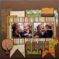 cute fall scrapbooking idea