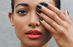 Break the Rules With These Unique, Cool Color Combos - Go bold with fresh shades for your lips and mani.