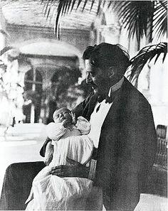 George Vanderbilt with his daughter Cornelia.