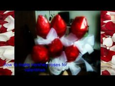 ▶ how to make hershey valentines roses - YouTube