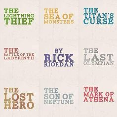 The entire Percy Jackson and the Olympians series and The Heroes of Olympus series so far by Rick Riordan - one of my most favourite authors ever!