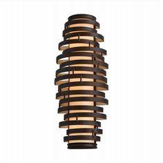 Vertigo Bronze & Gold Leaf Flush Wall Sconce - Item CO-113-13