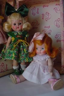 Ginny and Painted Eye Vogue Doll ~Photograph by MertzieMuldoon