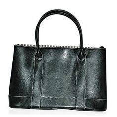 S/S 2013 NEW ARRIVAL Lady Black Colour Tote Bag in Silvertone