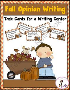 Fall Opinion Writing from Teachers Take Out on TeachersNotebook.com -  (10 pages)  - A fun little unit to practice opinion writing with a fall theme