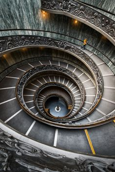 the Momo staircase at the Vatican museum. Vatican.