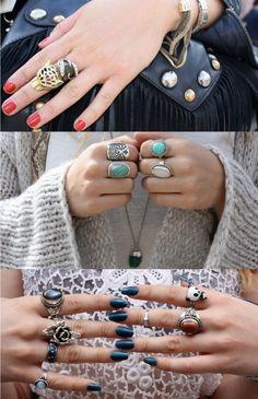 Love rings, great look
