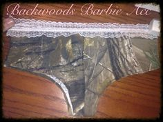 Camo lace panties on Etsy, $10.00