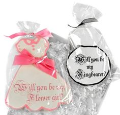 Fanciful Flower Girl or Ring Bearer Cookie