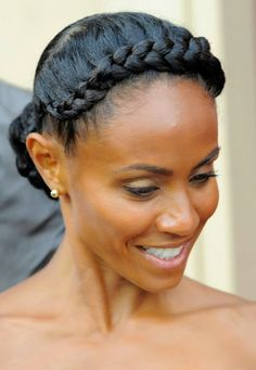 Jada Pinkett Smith's Jumbo Side Cornrow HairStyle - Chic From Hair-2-Toe