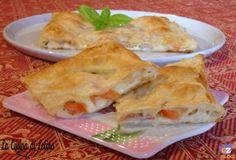 Strudel con mozzarella pomodori e speck