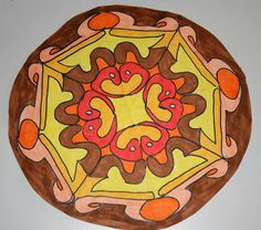Art lessons from Belgium: A name Mandala: Step by step